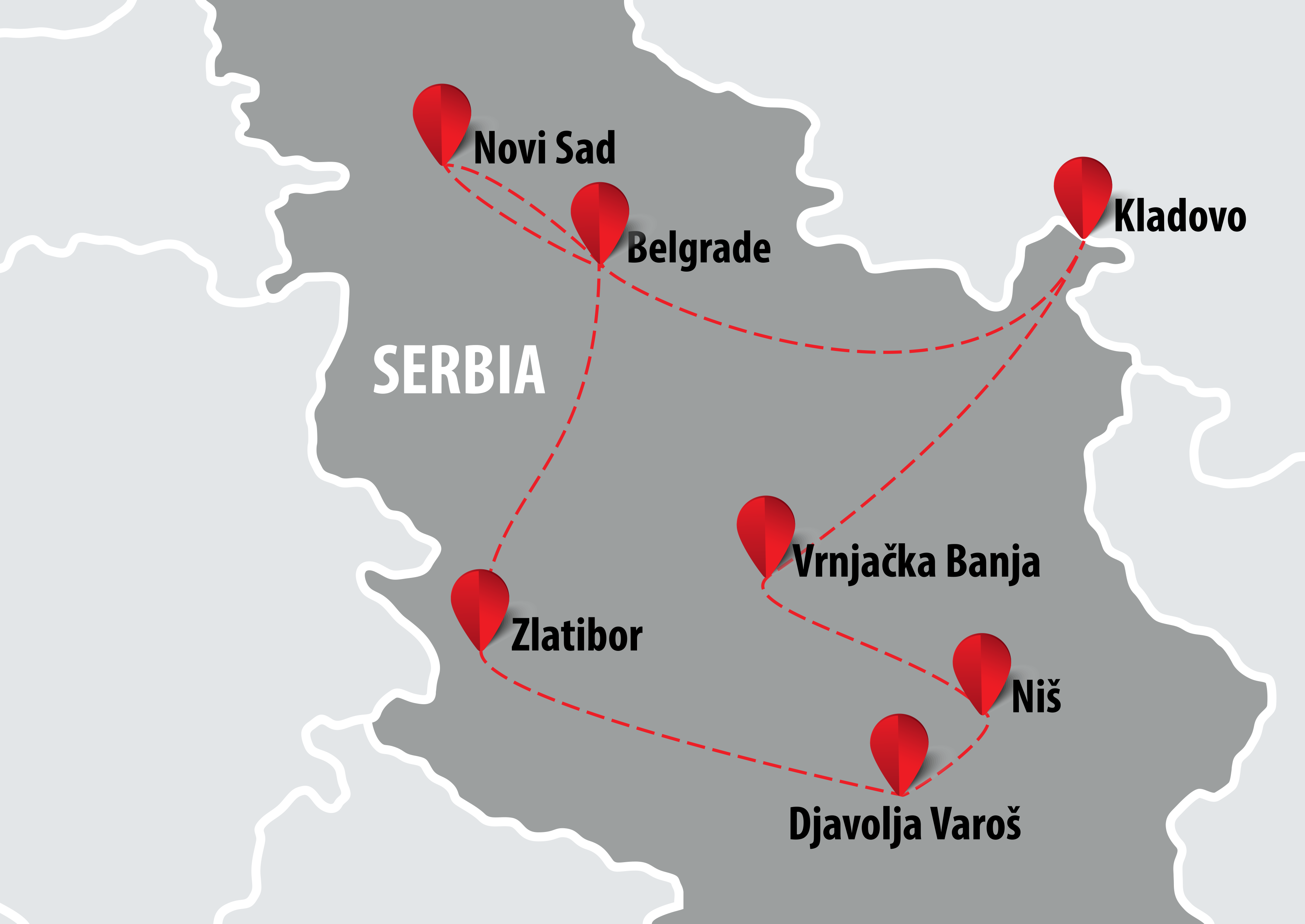 djavolja varos mapa Mapa Best of Srbija   Balkan Travel Centar djavolja varos mapa