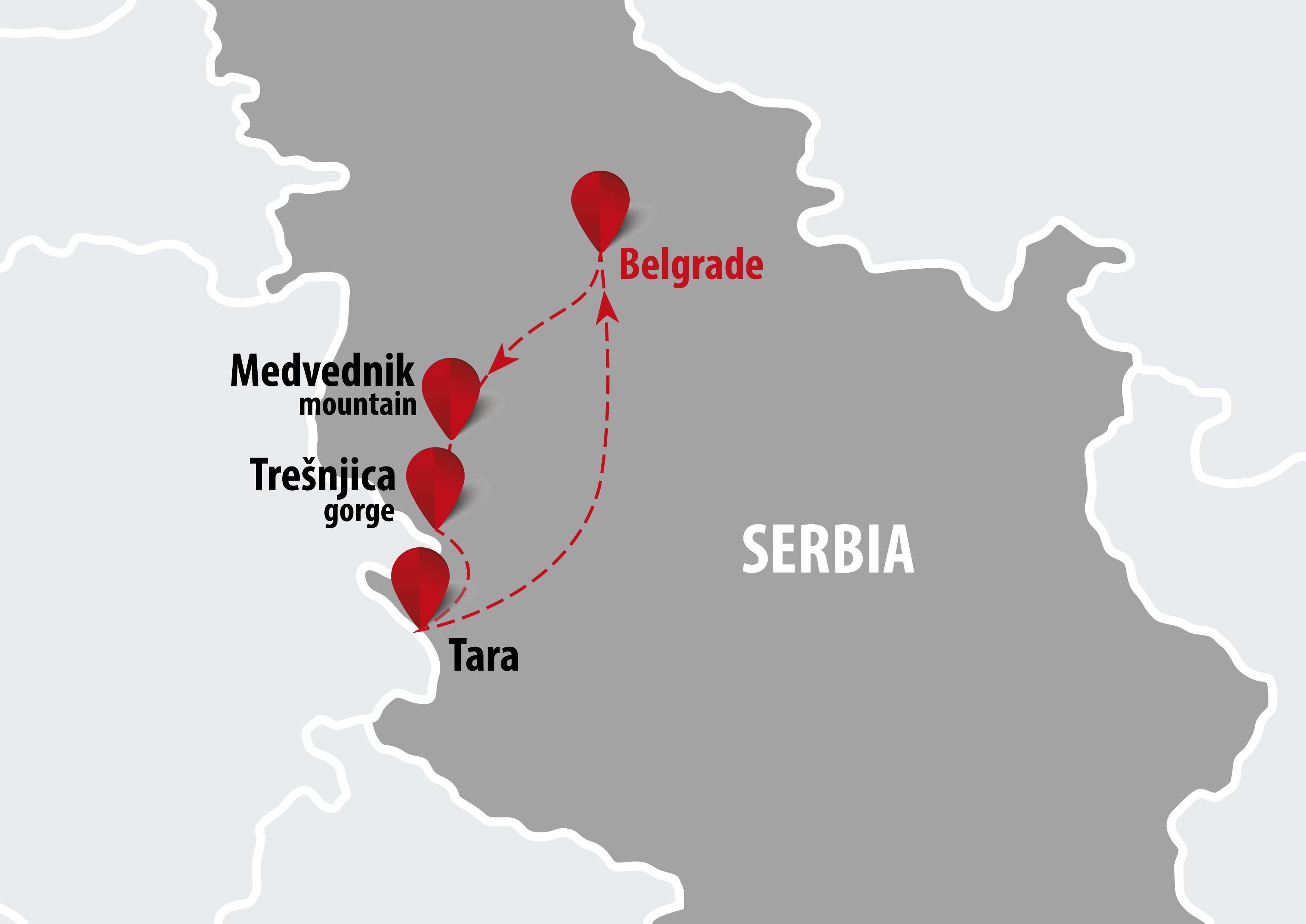 beograd tara mapa Adventure in Serbia | 6 days   Balkan Travel Centar beograd tara mapa